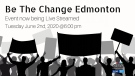 'Be the Change' rally goes online