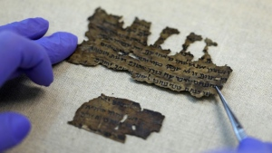 The parchment and papyrus Dead Sea Scrolls contain Hebrew, Greek and Aramaic and include some of the earliest-known texts from the Bible, including the oldest surviving copy of the Ten Commandments.