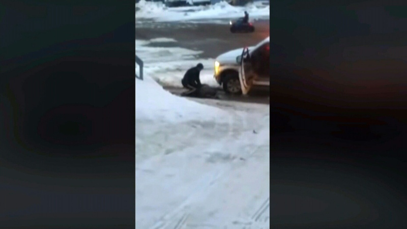 An RCMP officer in Nunavut has been reassigned to administrative duties after video emerged of the officer allegedly using their police vehicle to collide with a suspect before making an arrest. (APTN)