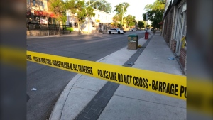 Sargent Avenue is closed from Toronto to Beverley Streets. (Source: Ken Gabel/CTV Winnipeg)
