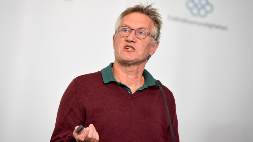 Sweden's state epidemiologist Anders Tegnell of the Public Health Agency of Sweden in Stockholm, on May 27, 2020. (Pontus Lundahl / TT FILE via AP)