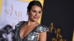Lea Michele in Los Angeles, on Sept. 24, 2018. (Photo by Jordan Strauss / Invision / AP)