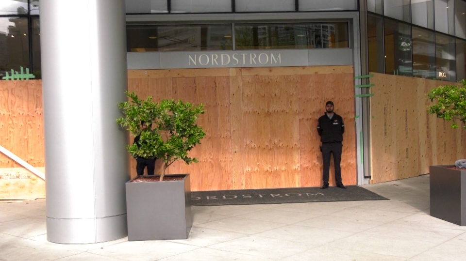 Nordstrom says it boarded up its Vancouver store out of