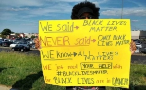 Black Lives Matter Timmins is holding a rally Wednesday at noon at Mountjoy Historical Participark,(Photo from BLM Timmins Facebook page)