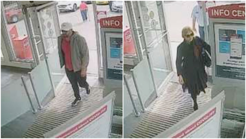 The man and woman are suspected of stealing from four Shoppers Drug Mart stores. (Lethbridge police)