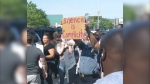 Protests continued in many places around the world over police brutality and anti-black racism.