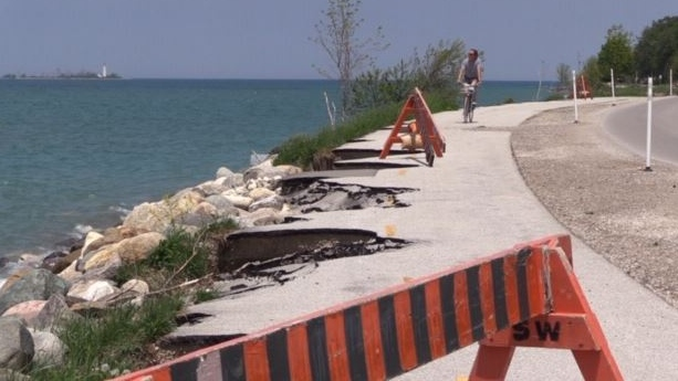 North Shore Trail between Port Elgin and Southampton Ont. on June 3, 2020. (Scott Miller/CTV London)