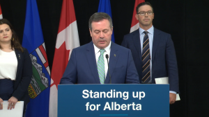 Premier Jason Kenney, with Justice Minister Doug Schweitzer and MLA Michaela Glasglow, announced the Alberta Firearms Advisory Committee and the Alberta Firearms Examination Unit on June 3.