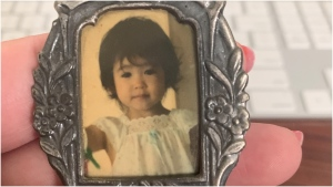 2-year-old Kimi is seen in this undated photo found recently by an American woman. (Monica Wright )