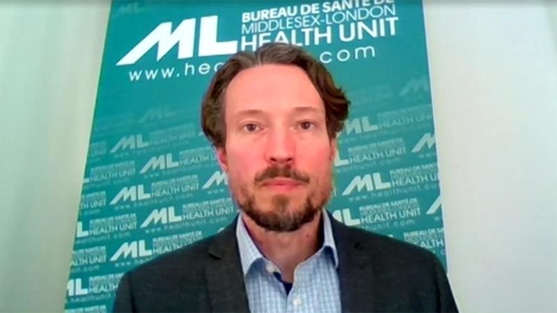 Middlesex-London Health Unit Medical Officer of Health Dr. Chris Mackie speaks on Wednesday, June 3, 2020.