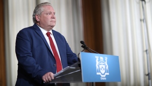 Premier Doug Ford is seen during the daily press briefing at Queens Park, in Toronto, Wednesday, June 3, 2020. THE CANADIAN PRESS/Rene Johnston-POOL