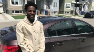 Christian Mbanza is speaking out about racial profiling after a Facebook post accused him of breaking into his own car. (Cally Stephanow/CTV News)