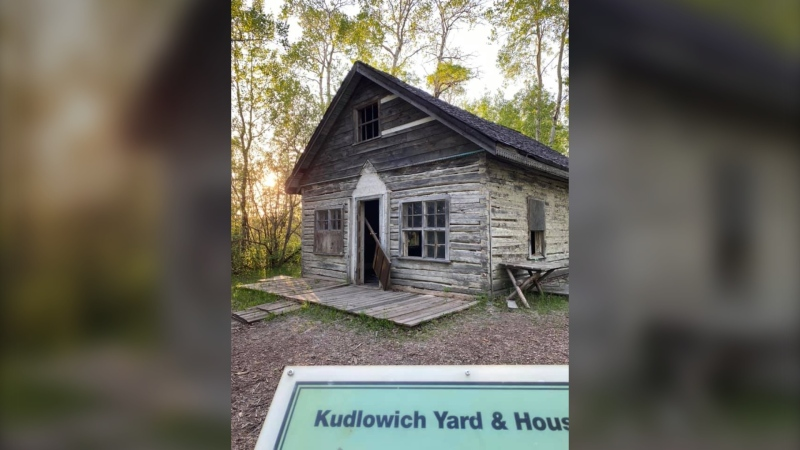 Vandalism done to the Kudlowich Homestead on Tuesday night. (Source: Melissa Powell/Facebook)