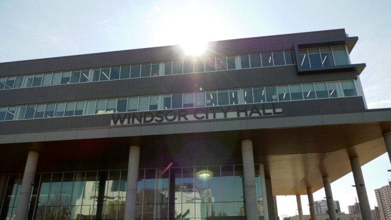Windsor city hall in Windsor, Ont., on March 25, 2020. (Rich Garton / CTV Windsor)