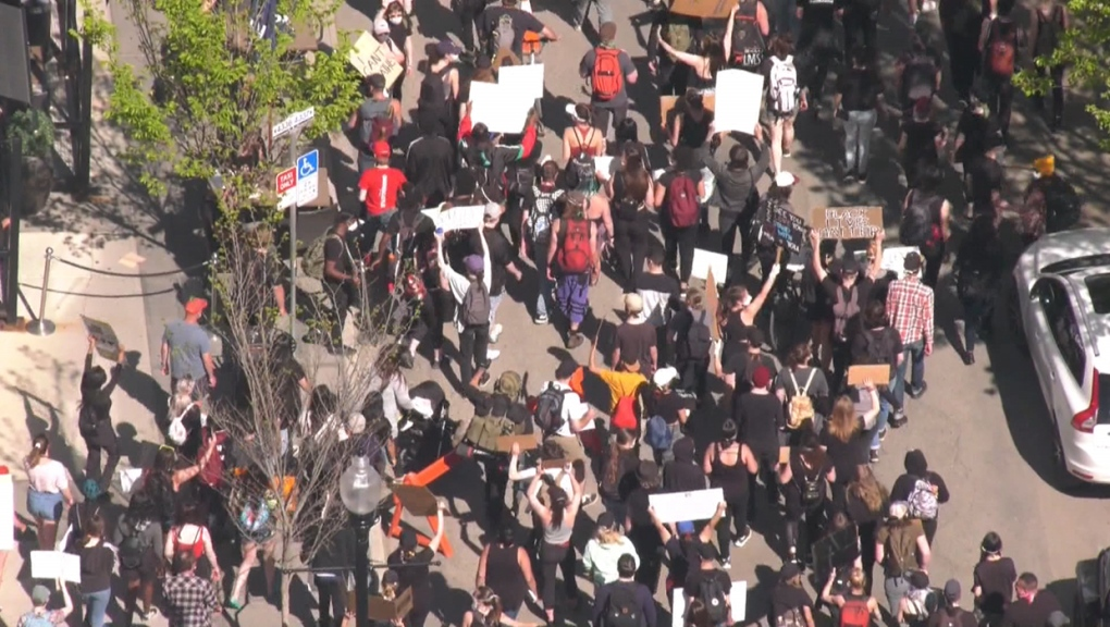 Protest, rally, Calgary, Black Lives Matter, 17th