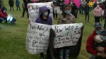 More than 1,000 people braved wet weather in Sydney, N.S., to rally against racism in a show of solidarity with protesters in the United States.