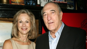 Christie Hefner, left, with Bruce Jay Friedman in New York, on Sept. 19, 2006. (AP / Playboy, Dave Allocca)