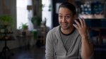 This image released by Hulu shows Lin-Manuel Miranda in a scene from 'We Are Freestyle Love Supreme.' (Hulu via AP)