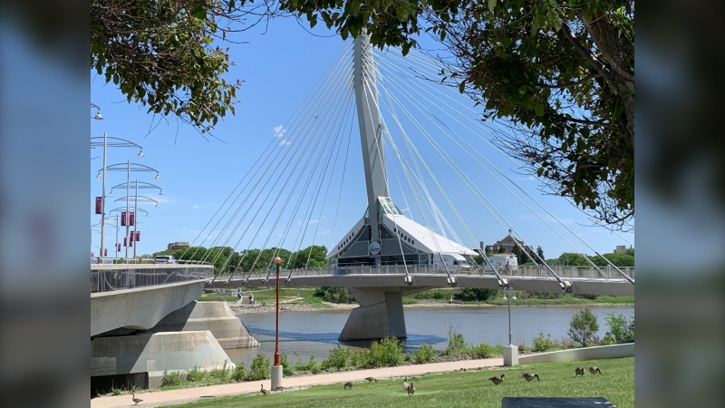 Mon Ami Louis is pictured in June 2020, shortly before closing its doors. The City of Winnipeg is now looking for a tenant to move into the restaurant space on the Esplanade Riel Bridge, and submissions for any potential use are being considered (Source: Jamie Dowsett/CTV Winnipeg)