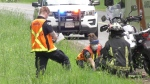 A motorcyclist sustained minor injuries after crashing into a deer near Comox Thursday morning: (CTV News)