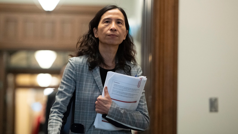 Chief Public Health Officer of Canada Dr. Theresa Tam arrives for a news conference on the COVID-19 pandemic at West Block on Parliament Hill in Ottawa, on Wednesday, June 3, 2020. THE CANADIAN PRESS/Justin Tang