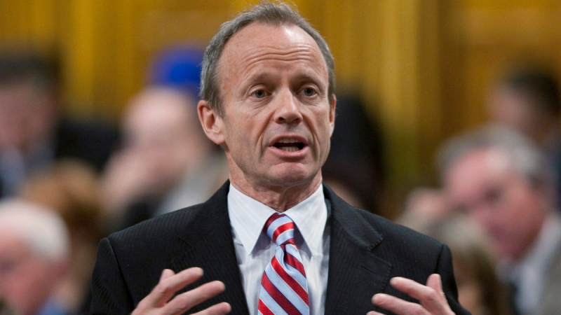 Stockwell Day in the House of Commons on Parliament Hill in Ottawa, on Dec. 14, 2010. (Adrian Wyld / THE CANADIAN PRESS)