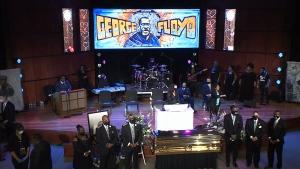 George Floyd memorial service