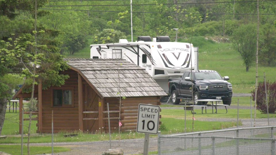 The KOA Thousand Islands Campground in Mallorytown wants the Ontario Government to provide more information on a possible reopening. (Nathan Vandermeer/CTV News Ottawa)