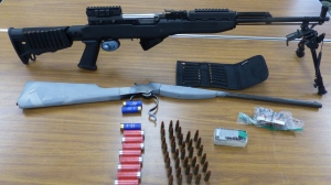 Stratford Police have seized a number of dangerous weapons and arrested a 38-year-old resident. (Photo: Stratford Police) (June 4, 2020)