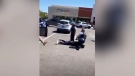 Warning: Police officer place knee on woman's neck