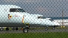 Air Canada planes sit on the tarmac at Vancouver International Airport during the COVID-19 pandemic.