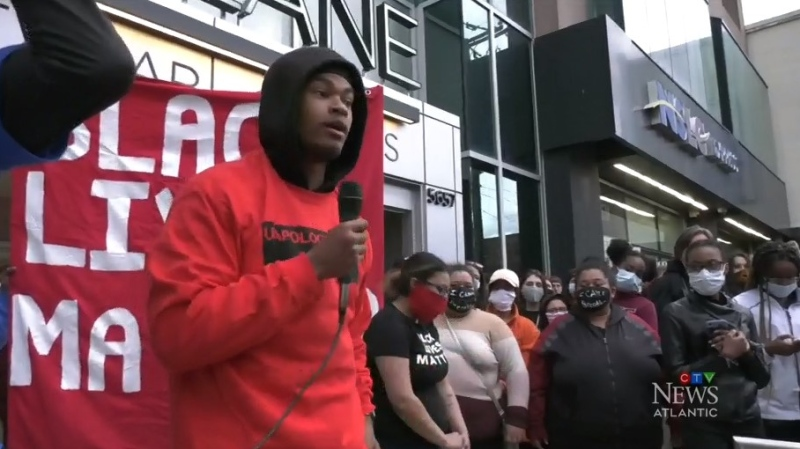 Trayvone Clayton, a 21-year-old activist, says the first time he felt connected with everyone in his home province was during the Take a Knee to Make a Stand protest in Halifax Monday night.