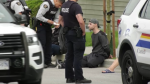 """Police arrested several people at an alleged """"crime house"""" in Coquitlam, B.C. on Wednesday, June 3, 2020. Most of the people arrested were released shortly after."""
