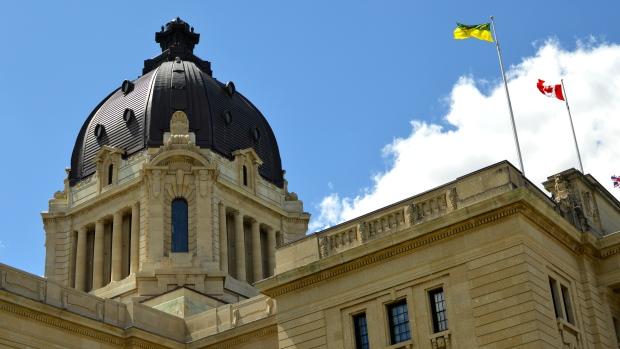 The dome of the Saskatchewan Legislative Building is seen in this file image. (Brendan Ellis/CTV News)