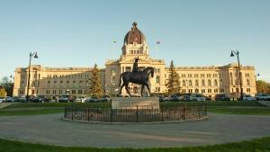 The Saskatchewan Legislative Building at Wascana Centre in Regina, Sask., on Saturday, May 30, 2020. THE CANADIAN PRESS/Mark Taylor.