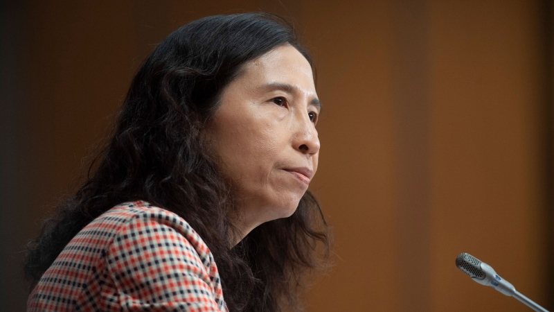 Chief Public Health Officer Theresa Tam is seen during a daily briefing Wednesday May 13, 2020 in Ottawa. THE CANADIAN PRESS/Adrian Wyld