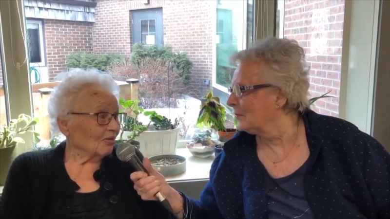 Residents at St. Ann's Senior Citizens' Village created their own newscast.