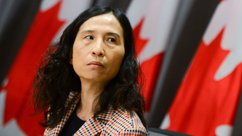 Chief Public Health Officer Dr. Theresa Tam takes part in a press conference on Parliament Hill during the COVID-19 pandemic in Ottawa on Thursday, June 4, 2020. THE CANADIAN PRESS/Sean Kilpatrick