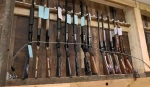 Guns are pictured at Back-Forty Guns and Gear in Saskatoon.