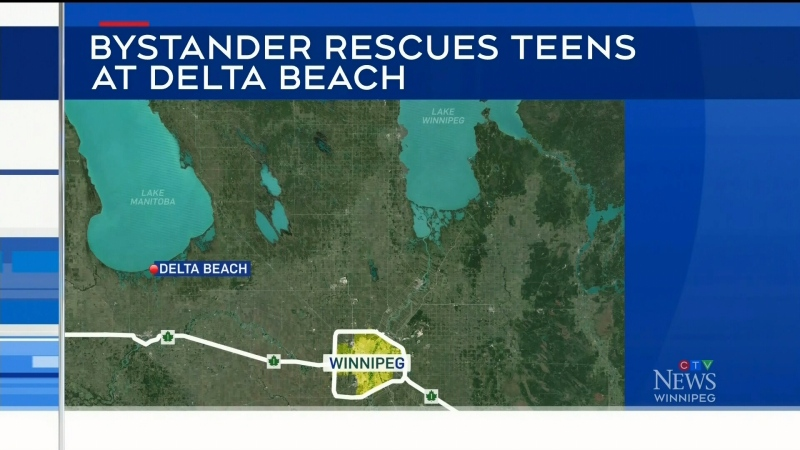 Bystander hailed as hero in beach rescue