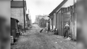 Hogan's Alley is seen in this photo from 1958, courtesy of the City of Vancouver archives.