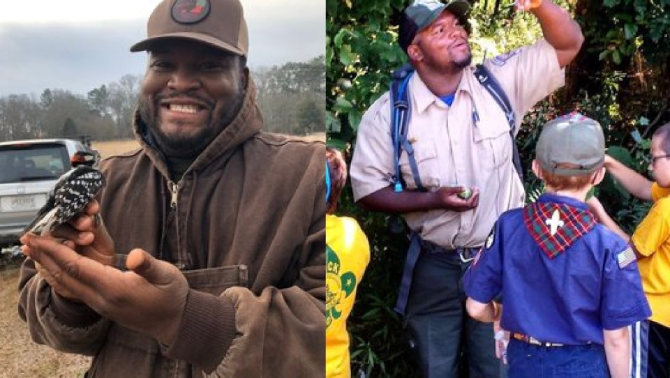 Wildlife biologist and educator Alex Troutman are a part of Black Birders Week. (Alex Troutman via CNN)