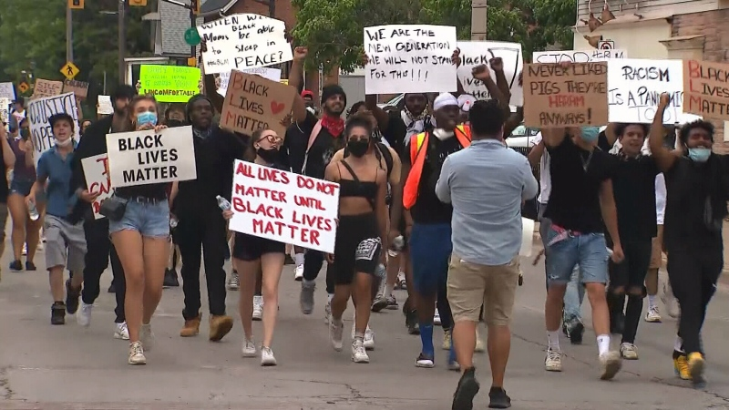 Burlington protest against anti-Black racism