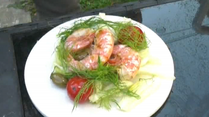 Grilled Shrimp and Fennel Salad