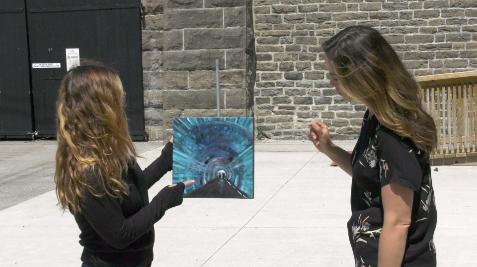 Artist consultant Alissa Sexton has launched a new start-up to showcase artists like Lisa Free. (Nathan Vandermeer/CTV News Ottawa)