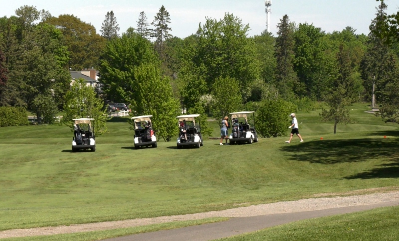 It has been three weeks since golfers in Ontario were allowed to start their season. Since then, the Sault Ste. Marie Golf Club hasn't been able to keep up with the demand. (Jairus Patterson/CTV News)