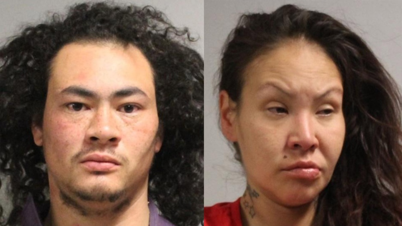 Police are searching for 30-year-old Jason Tapp, left, and 33-year-old Nicole Edwards in connection with a violent sexual assault in Oppenheimer Park. (Handout)