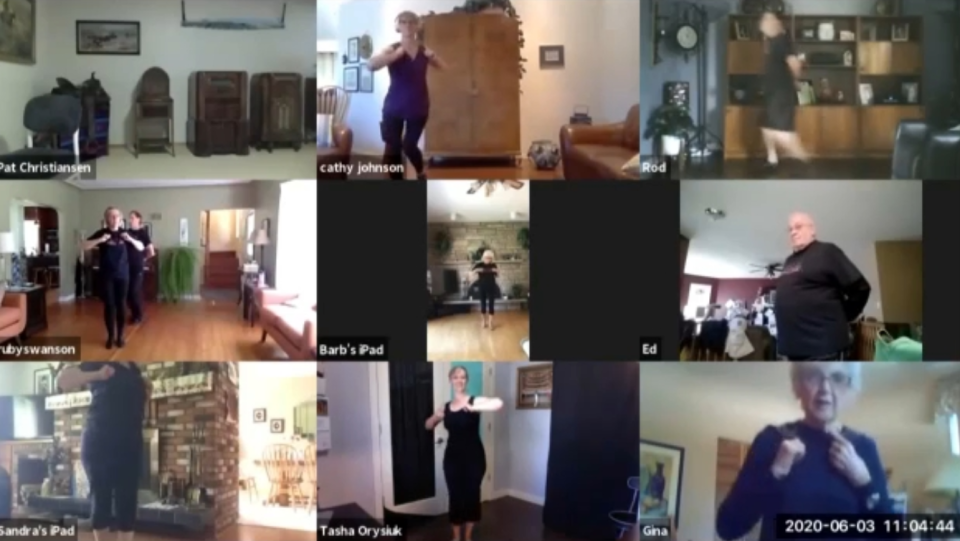 Shumka dance class on Zoom.