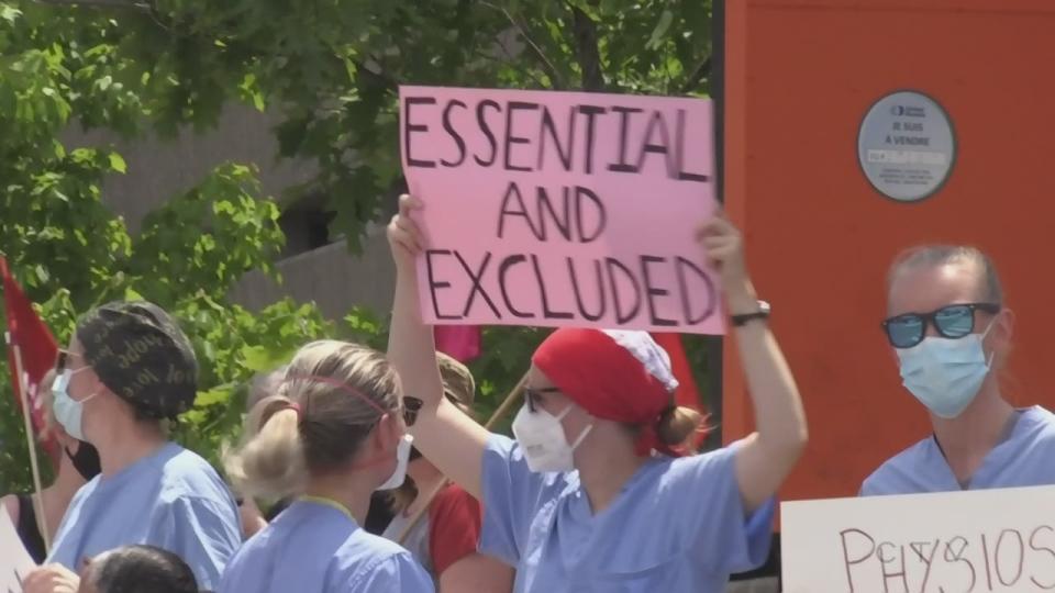 healthcare protest