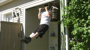Dale Roach created a workout space for people with COPD in his backyard.